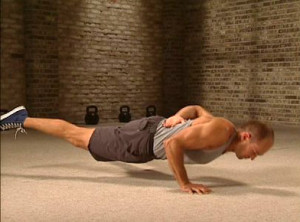 Pavel Tsatsouline performing the one arm-one leg pushup