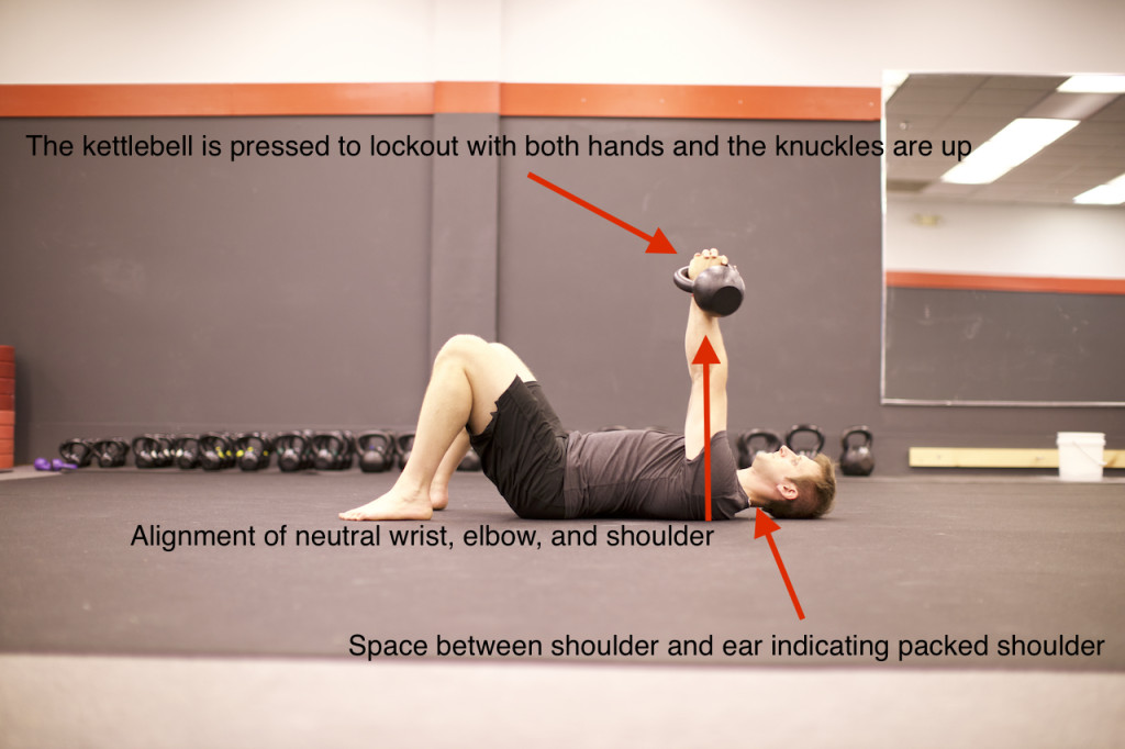 The Roll to Press - The first step in the kettlebell arm bar and Turkish Get Up