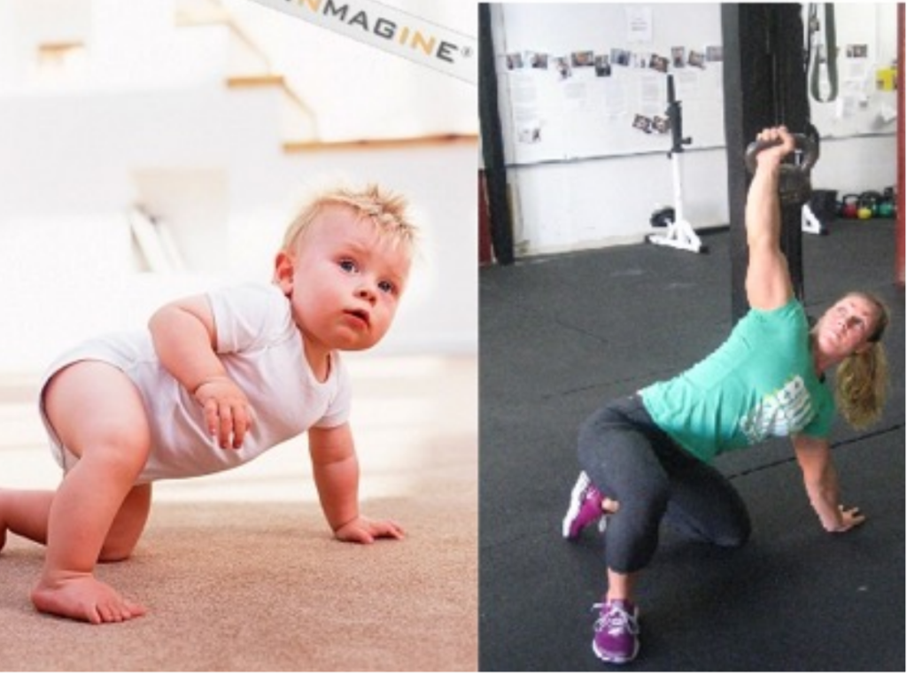The parallels between a baby's movement patterns and the get up are the SAME! | Photo courtesy of Perry Nickelston & Stop Chasing Pain